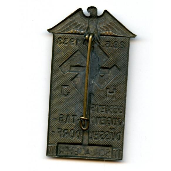 """Tinnie """"HJ Gebiets Jugentag Düsseldorf Schlageter 1933"""" by Paulmann & Crone"""