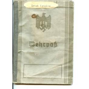 Wehrpass to E. Kruckew, air defence Holland, Battle of Cholm & Demjansk! Flak badge, EK2,...