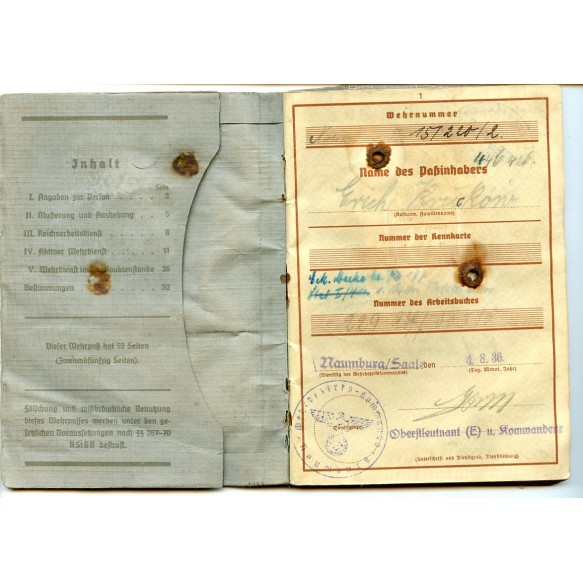 Wehrpass to E. Kruckew, air defence Holland, Battle of Cholm & Demjansk! Flak badge, EK2,...