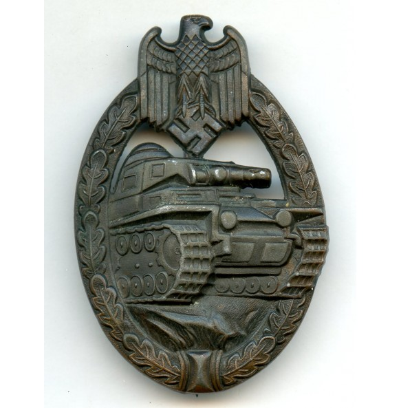 Panzer assault badge in bronze by Dr. Franke & Co.