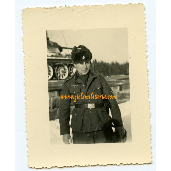 Private snapshot panzer grenadier with SS cap totenkopf!
