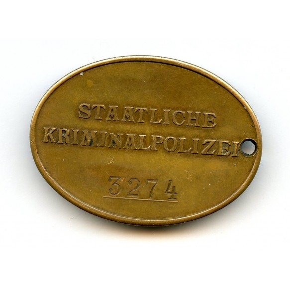 Kripo disc #3274 + SS 8 year medal bar