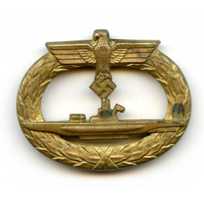 Uboot badge by W. Deumer, horizontal needle variant