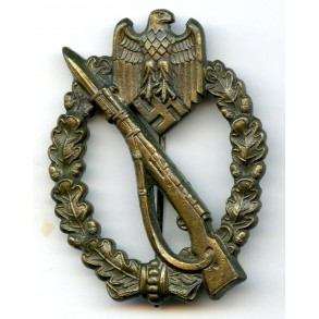 "Infantry assault badge in bronze by Gebr. Wegerhoff ""GWL"""