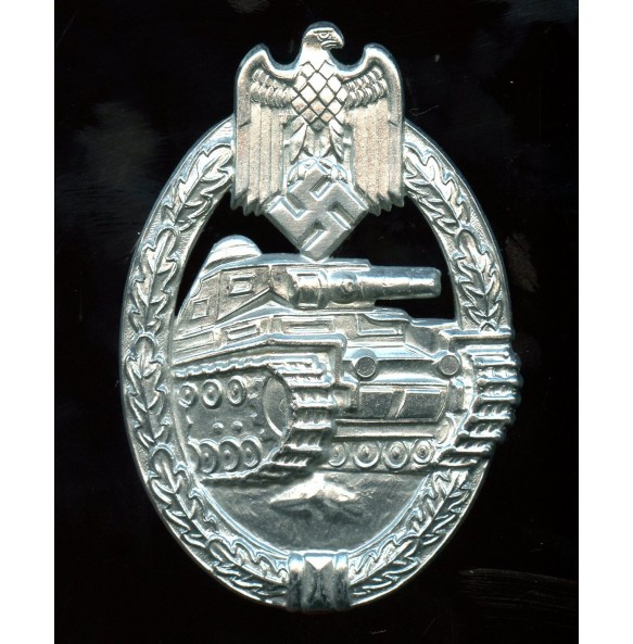 Panzer assault badge in silver by Frank & Reif MINT