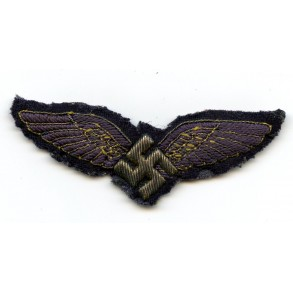 Civil pilot badge in cloth/bullion