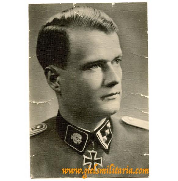 "SS Portrait SS Knights cross winner ""Totenkopf"" Walter Reder"