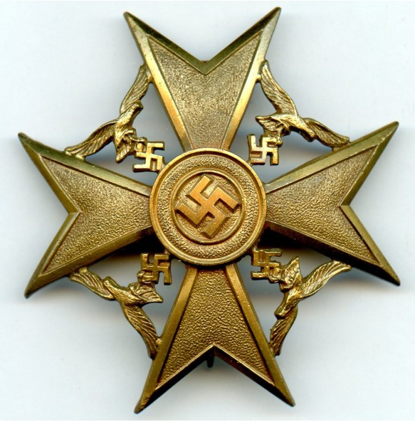 Spanish cross in bronze w/o swords by C.E. Juncker