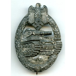 "Panzer assault badge in silver by R. Souval ""R.S."""