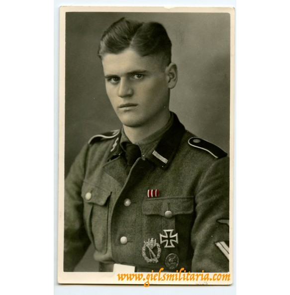 SS portrait decorated SS-Rottenführer, period colorised