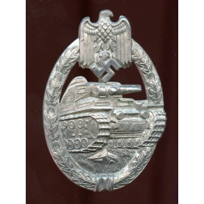 Panzer assault badge in silver by P. Meybauer, 1st pattern!