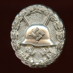 "Wound badge in silver, 1st pattern ""hohlverbödet"""