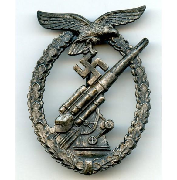 """Luftwaffe flak badge by F.A. Assmann & Söhne """"A"""""""