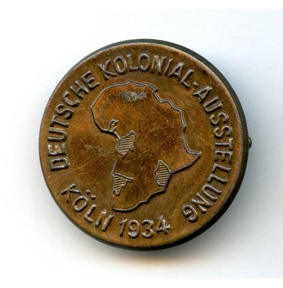 """Tinnie """"Deutsche Kolonial-ausstellung Köln 1934"""""""