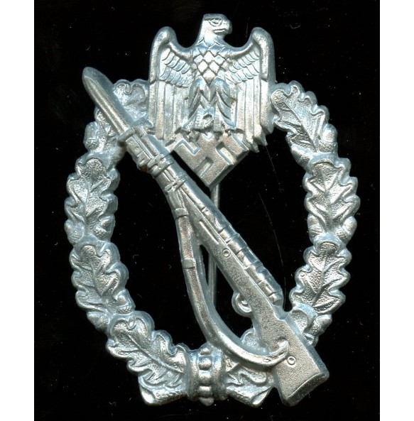 "Infantry assault badge in silver by H. Aurich ""HA"""