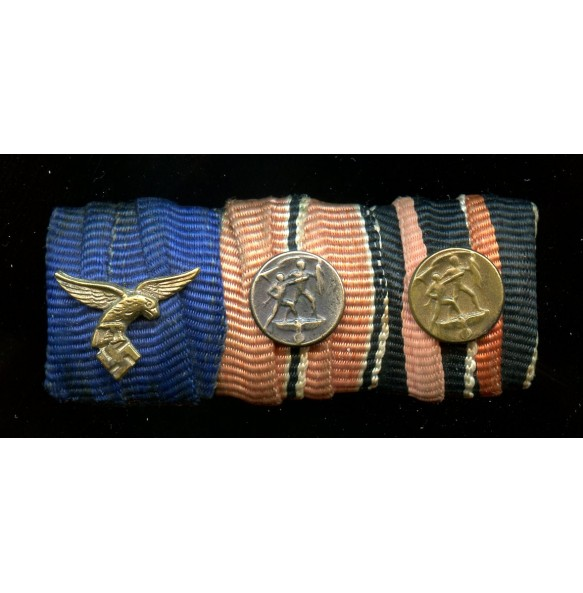 Luftwaffe ribbon bar with 13 March and 1 October miniatures.