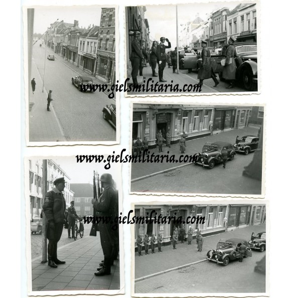 5 private snapshots Erwin Rommel in Breda, Holland 1944