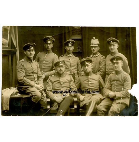 WW1 Studio portrait Nov. 1914 in Kortrijk, Belgium. Freshly awarded the EK2
