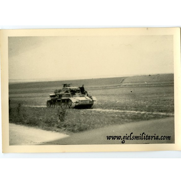 Private snapshot panzer IV in the field, Russia