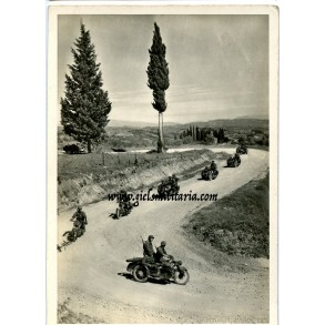 "German Waffen-SS recruitment postcard ""motorcyclists in the South"""