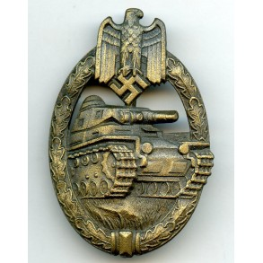 Panzer assault badge in bronze by Karl Wurster K.G