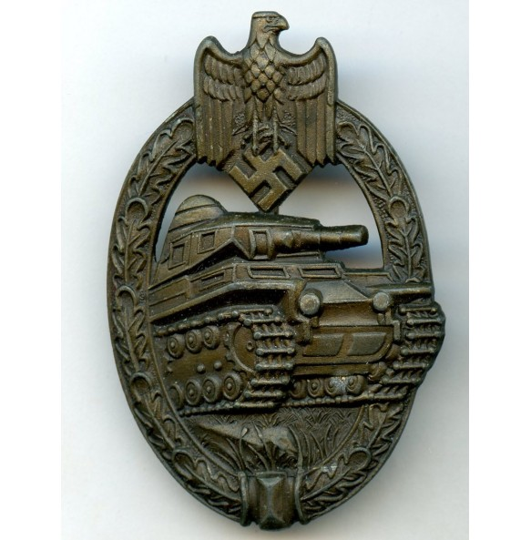 "Panzer assault Badge in bronze ""AS in triangle"""