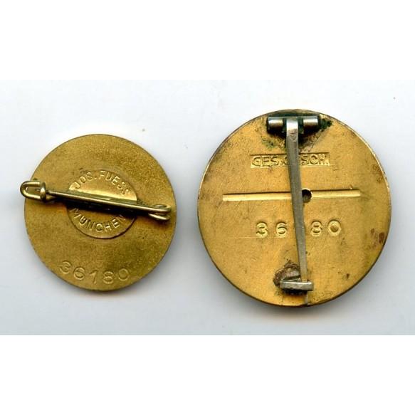 Golden party pin set #36180
