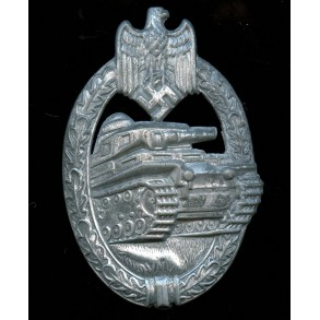 "Panzer assault badge in silver by R. Karneth ""R.K."""