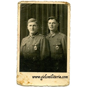 Portrait brothers with infantry assault badges in silver