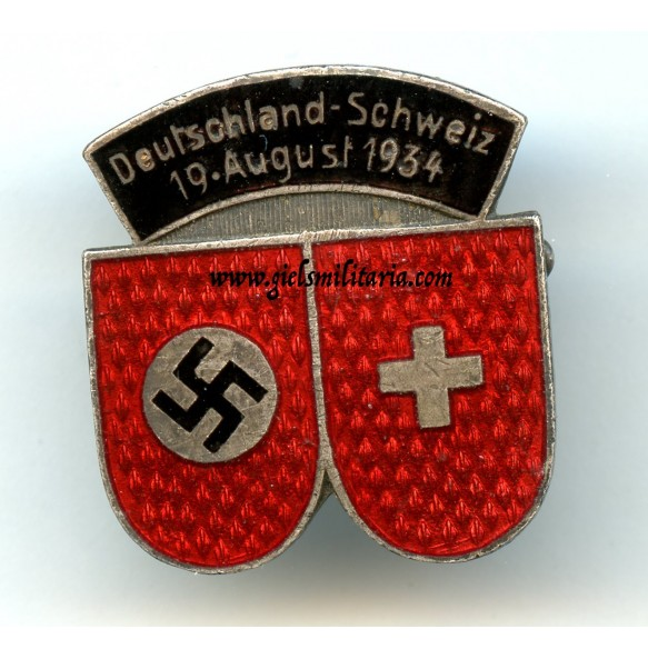 German-Swiss sport (football) event 19.8.1934 pin by Deschler & Sohn