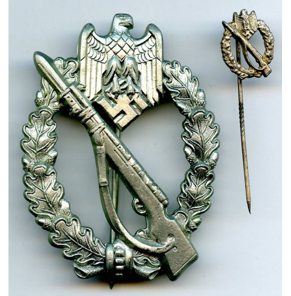 Infantry assault badge in silver by ShuCo41 + 16mm miniature