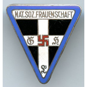 "National Socialist Women's League staff badge (Blue) by Kerbach & Israel, Dresden ""42"""