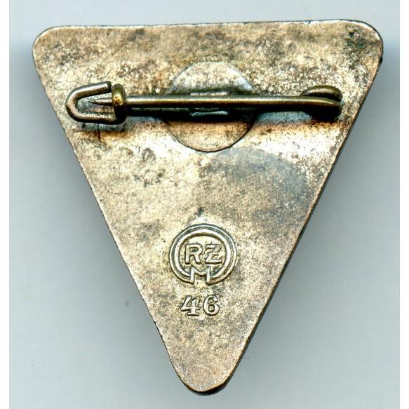 "National Socialist Women's League staff badge (Blue) by Kerbach & Israel, Dresden ""42"""
