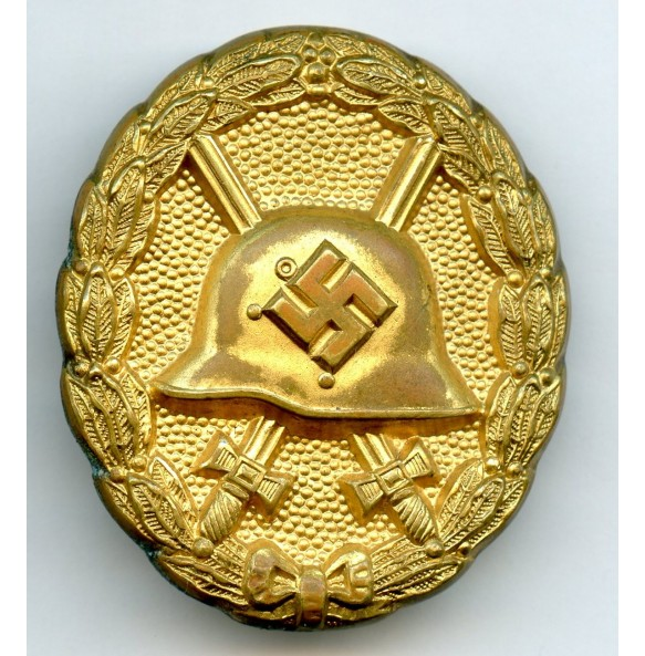 "Wound badge in gold, 1st pattern ""hohlverbödet"""
