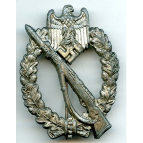 "Infantry assault badge in silver by Wilhelm Hobacher ""W.H."""