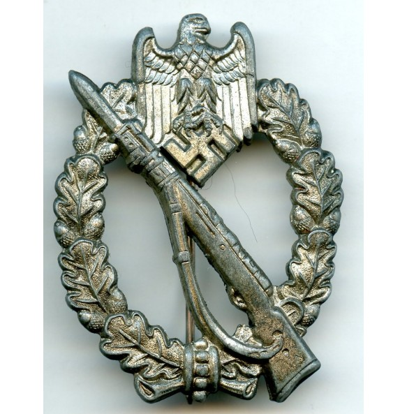 """Infantry assault badge in silver by Wilhelm Hobacher """"W.H."""""""