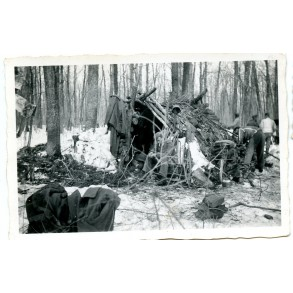 Private snapshot German camp in the woods