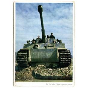 Flemish period postcard Tiger tank