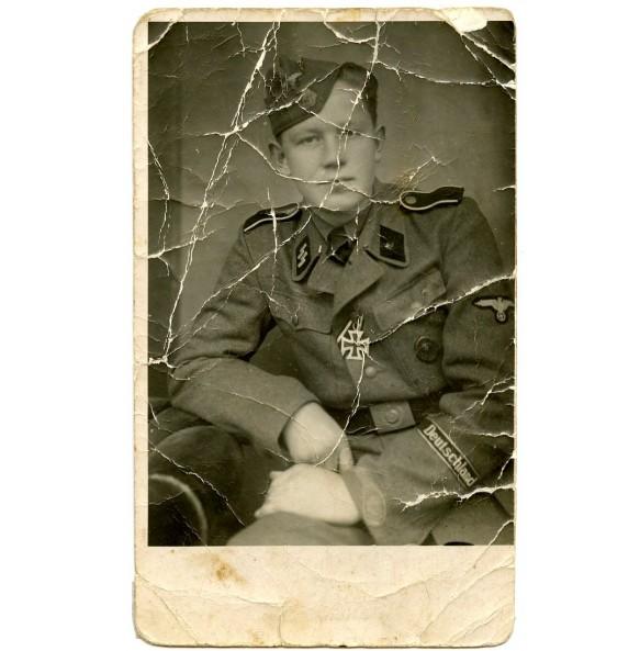 """Portrait SS-Schütze with EK2, Regiment """"Deutschland"""""""
