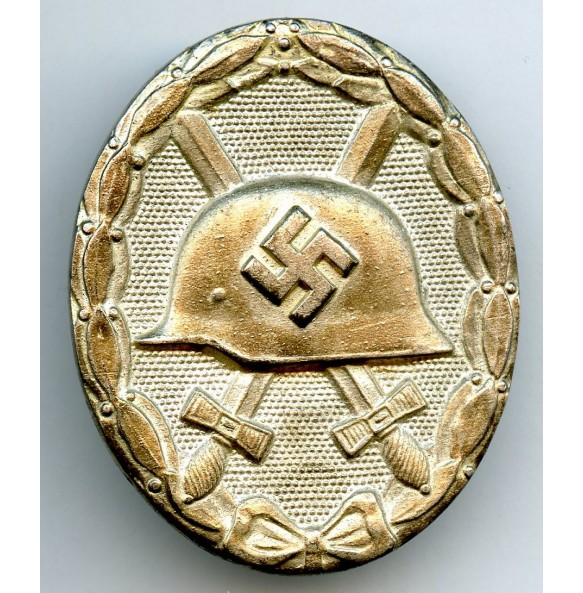 "Wound badge in silver by Rudolf Wächtler & Lange ""100"" + ""L/55"""