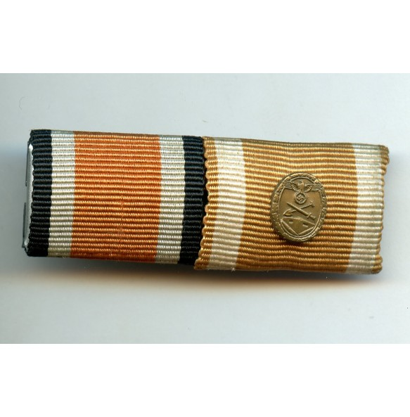 Ribbon bar early EK2 and Westwall medal