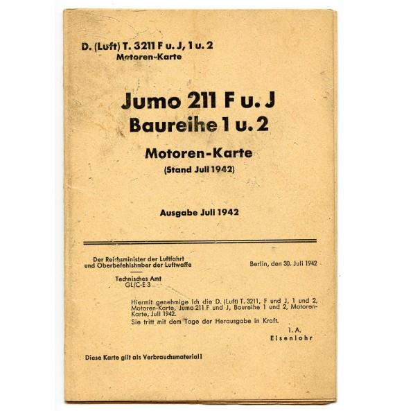 Luftwaffe Stuka Ju87 engine Jumo 211 motor manual, July 1942