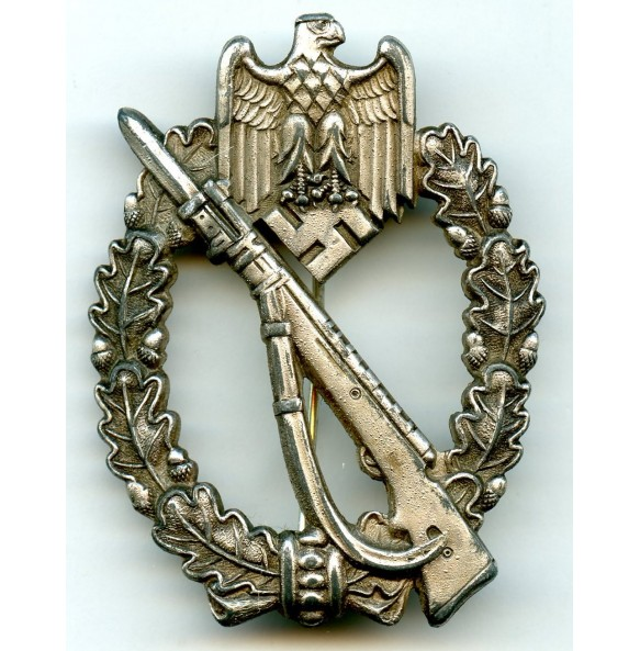"""Infantry Assault Badge in silver """"AS in triangle"""""""