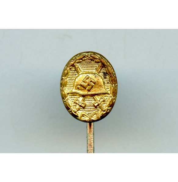 Wound badge in gold 9mm miniature
