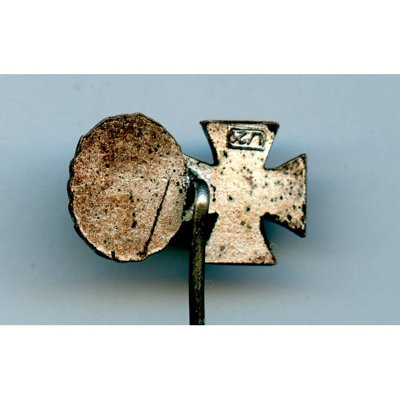 """Iron cross 2nd class + wound badge in silver miniature by Foerster & Barth """"L/21"""""""