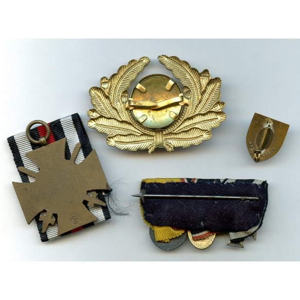 WW1 veteran group with miniature medal bar