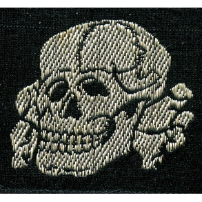 SS cap skull in cloth, Flemish made variant