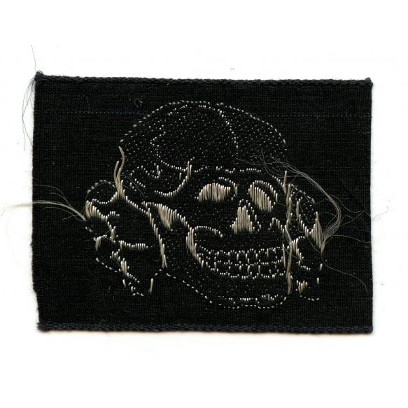 SS cap skull in cloth, Flemish made variant