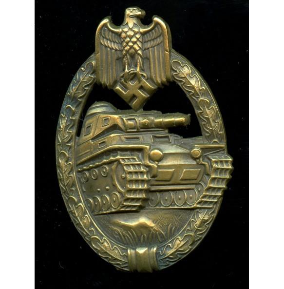 Panzer assault badge in bronze by Steinhauer & Lück, early war