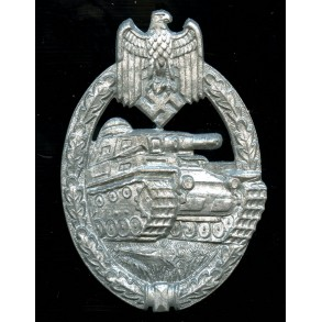 "Panzer assault badge in silver by F. Linden ""FLL43"""